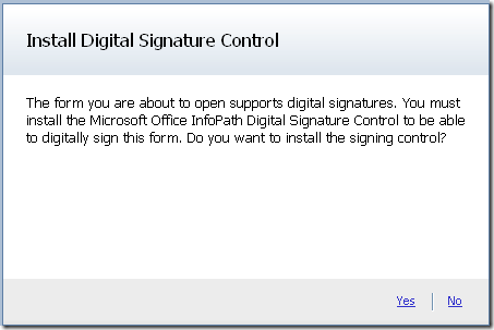 Digital signing in the browser - InfoPath Dev