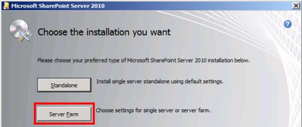 SharePoint 2010 Install 1